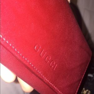 Red Gucci Wallet